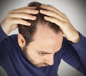Man checking his hair